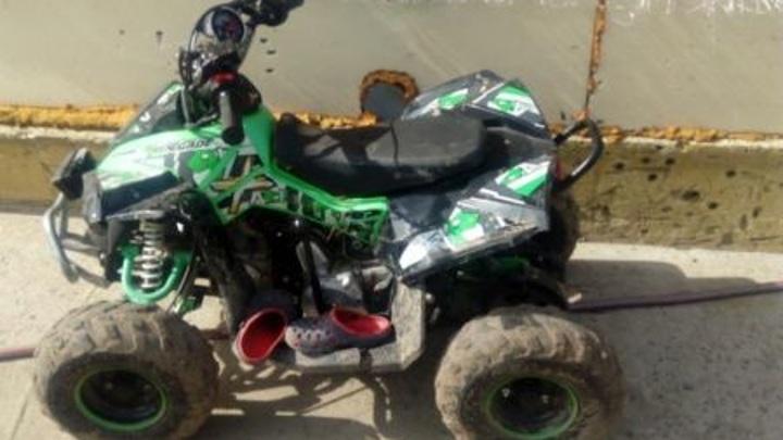 Опасная игрушка: в Приморье дети пострадали в результате опрокидывания миниквадроцикла
