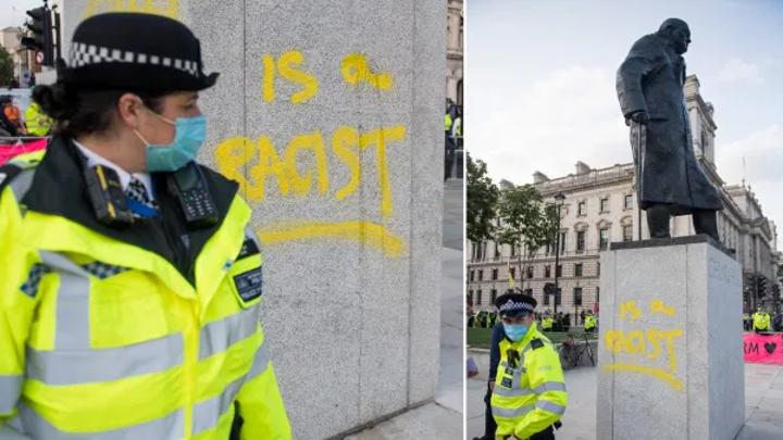 """В Лондоне с памятником Черчиллю случился """"ужасный вандализм"""""""