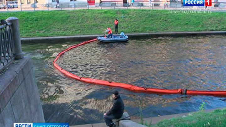 На поверхности петербургской реки Карповки обнаружили нефтяную пленку