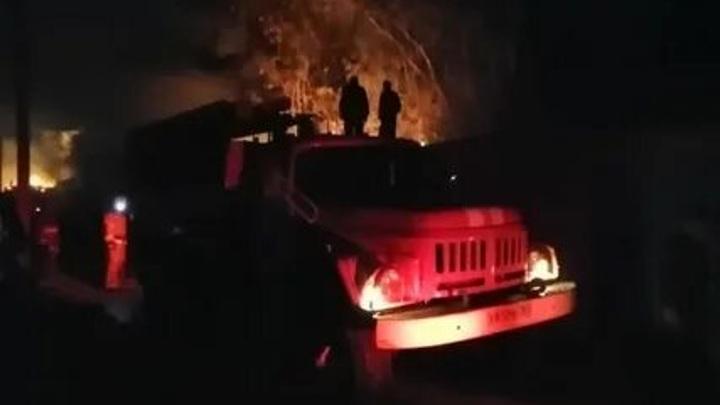 При пожаре в сварочном цехе в Подмосковье пострадал один человек