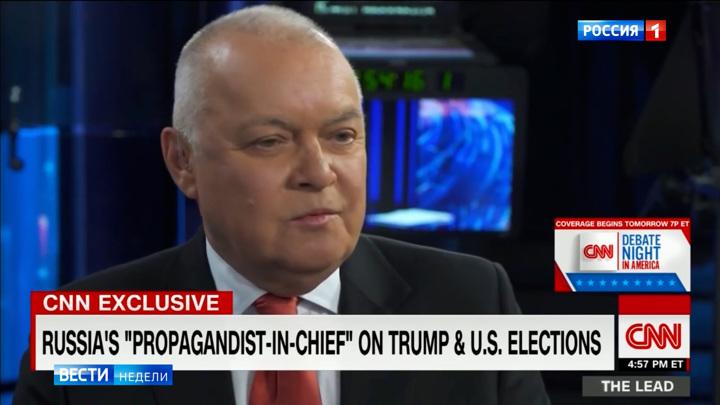 Киселев объяснил нежелание общаться с CNN
