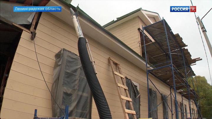В Ленинградской области продолжается реставрация Дома-музея Римского-Корсакова