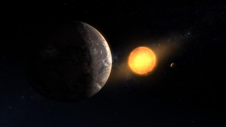 Экзопланета получает от своей звезды достаточно тепла для существования жизни.