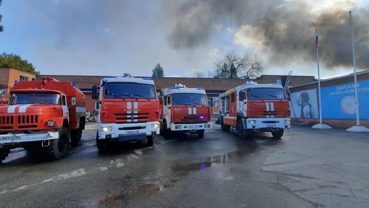 В Краснодаре сгорел стрелковый комплекс ДОСААФ