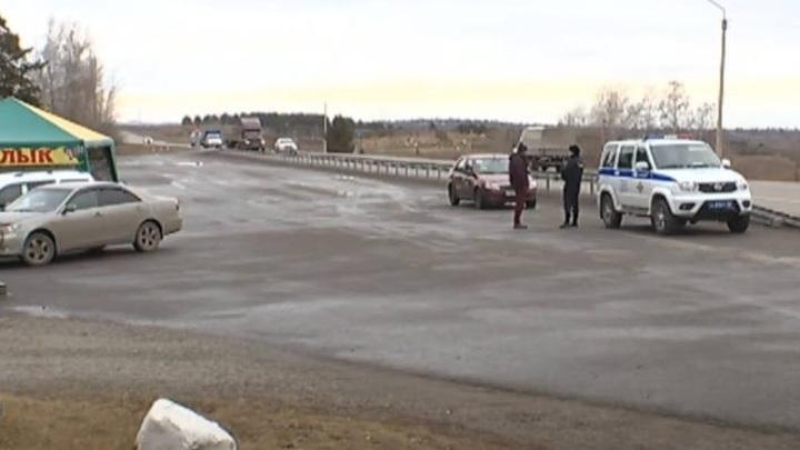 На въезде в Минусинск появился коронавирусный КПП