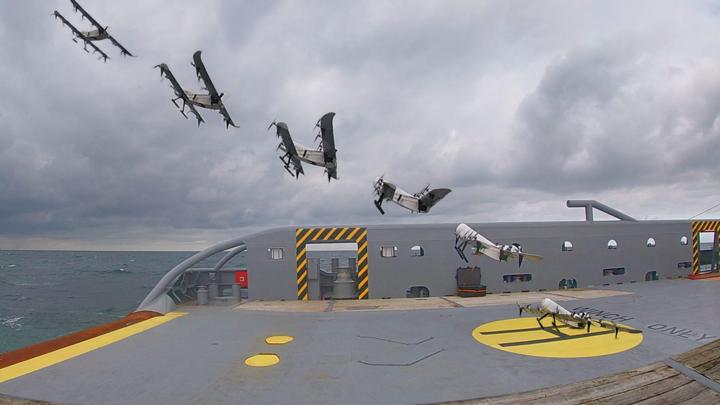 Новый дрон может взлетать с палубы кораблей.