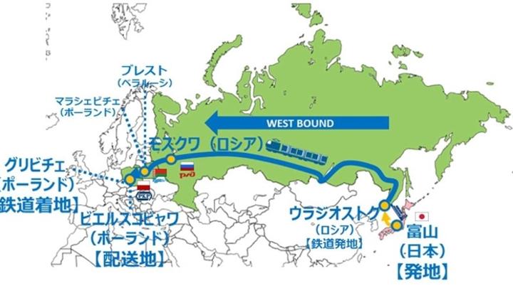 18 ноября по Транссибу пойдет очередной поток грузов из Японии в Европу