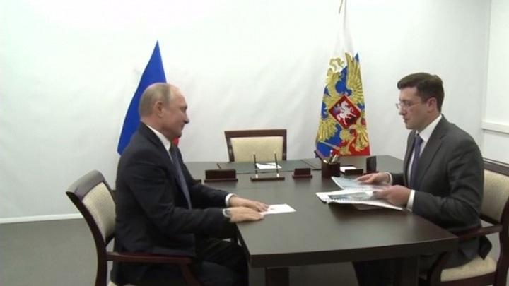 Глеб Никитин доложил Владимиру Путину о реализации национальных проектов в регионе