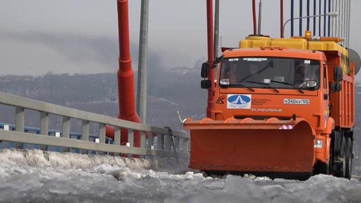 Ледяная крупа накроет Русский мост во Владивостоке
