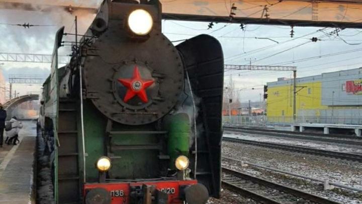 Ретропоезд привез первых гостей в Калугу
