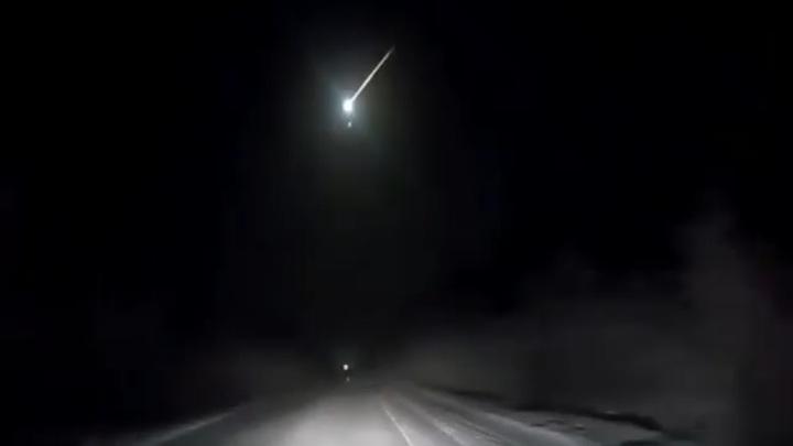 Над Камчаткой взорвался метеорит