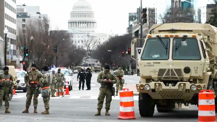 ВВашингтоне развернуты подразделенияхимзащиты накануне инаугурации Байдена