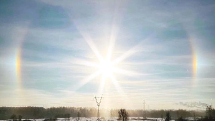 В Рыбинске в камеру объектива попало гало