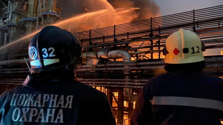 Пожар на заводе в Уфе потушен