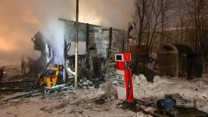 В Архангельске в результате пожара на газозаправочной станции пострадала сотрудница