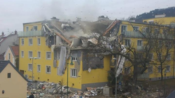 Мощный взрыв прогремел в жилом доме под Веной