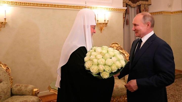 Путин поздравил патриарха Кирилла с годовщиной интронизации