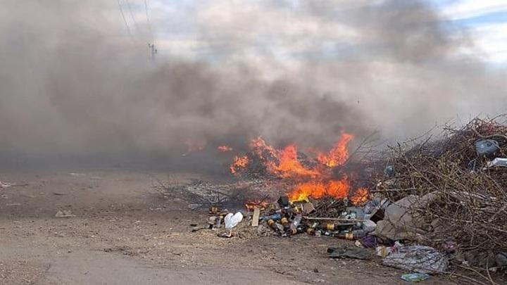 Во Владимирской области загорелся мусорный полигон