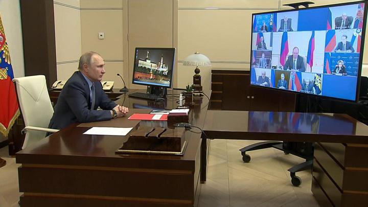 Путин на Совбезе поприветствовал решение Байдена