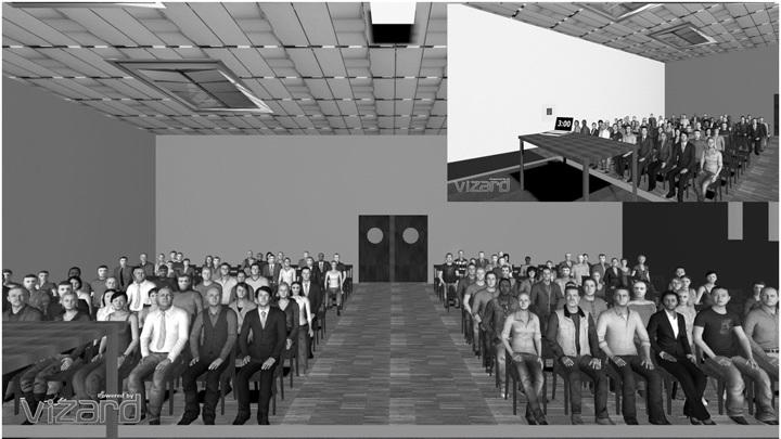 Комната, которую видели перед собой испытуемые в виртуальной реальности.