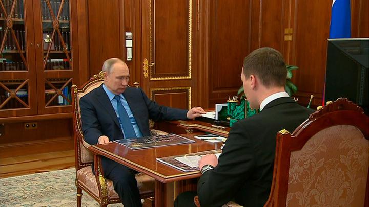 Врио губернатора Хабаровского края Дегтярев доложил Путину о результатах работы