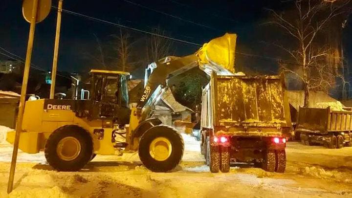 За сутки с улиц Калуги вывезено почти 10 тысяч кубометров снега