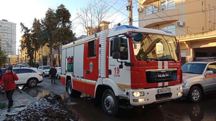 В Сочи из-за пожара в гостинице эвакуировали 23 человека