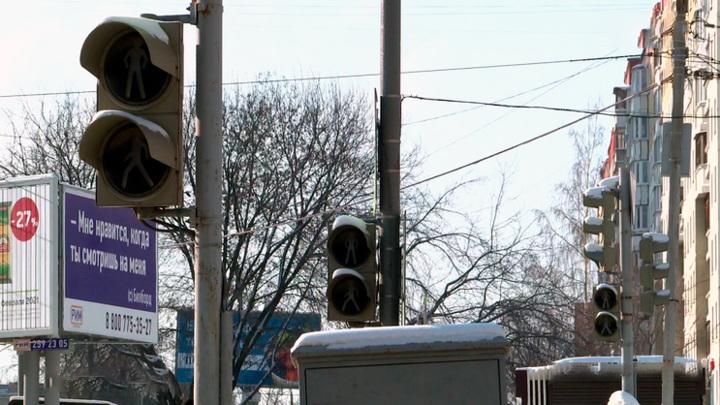 В Перми светофоры не выдержали испытания морозами