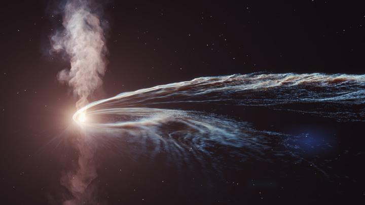 Астрономы зафиксировали уничтожение звезды чёрной дырой.