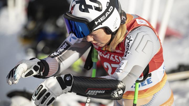 Норвежская горнолыжница пострадала во время старта в Италии