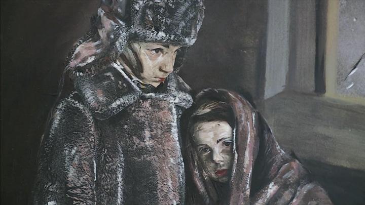 14-летняя художница написала полотно о Блокаде Ленинграда