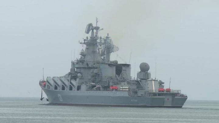 """Ракетный крейсер """"Москва"""" впервые выполнил стрельбу комплексом """"Базальт"""" в Черном море"""