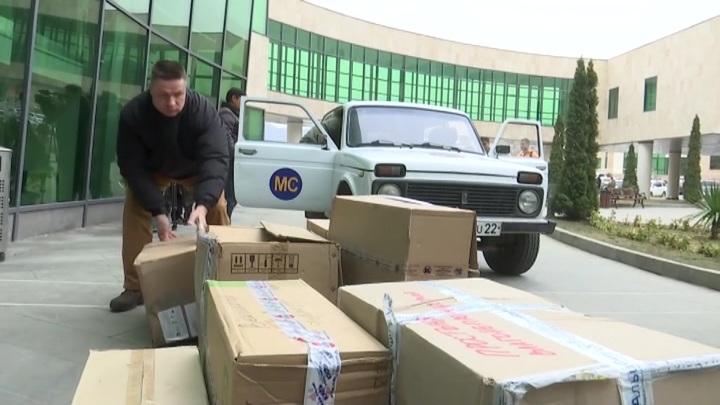 Российские миротворцы привезли новое оборудование в больницу Степанакерта