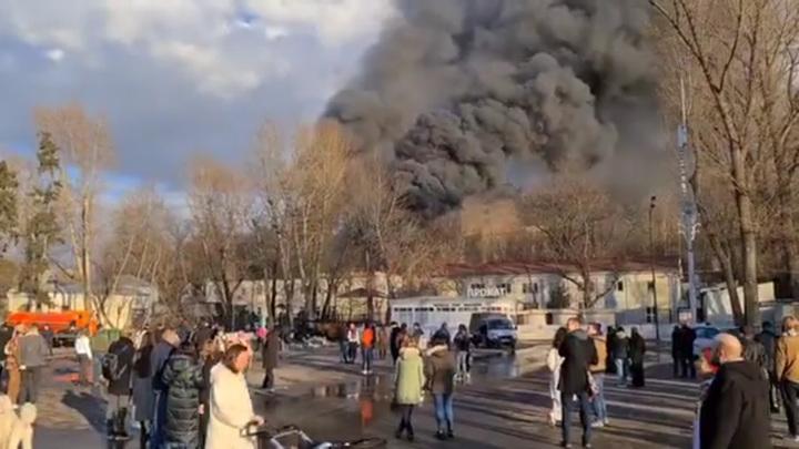 Пожар в Парке Горького потушен