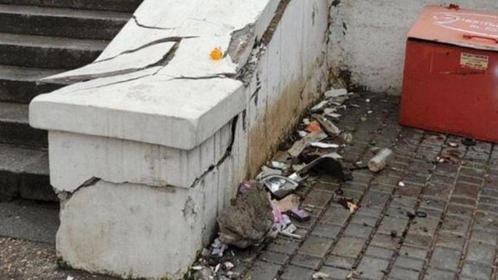 В Севастополе вандалы разгромили лестницу на Малаховом кургане