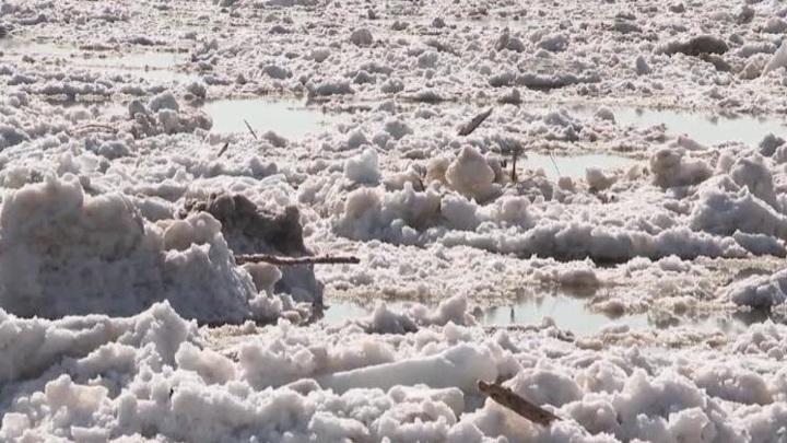 Нареках Вологодской иАрхангельской областей начинается ледоход