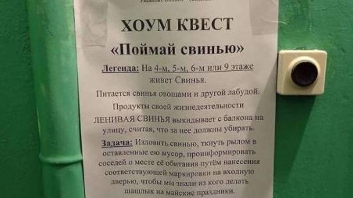 Хоум-квест во Владивостоке: жильцы многоэтажки пытаются вычислить нечистоплотного соседа