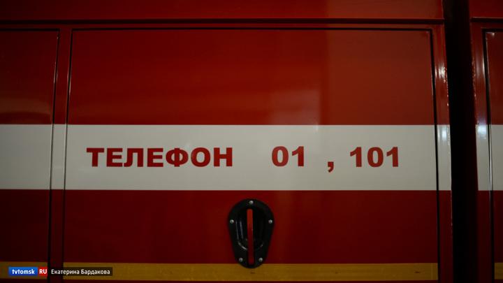 Томские пожарные вынесли 6 газовых баллонов из горящего дома