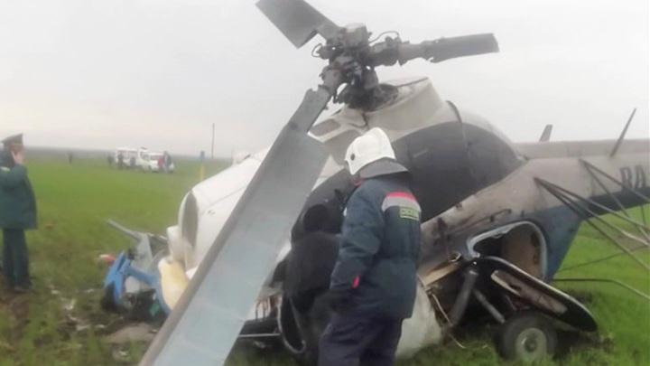 Разбившийся Ми-2 зацепил деревья