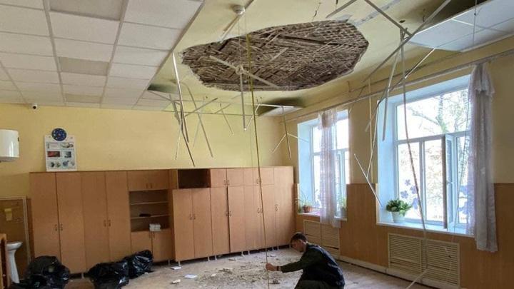 Потолок рухнул на второклассников в армавирской школе