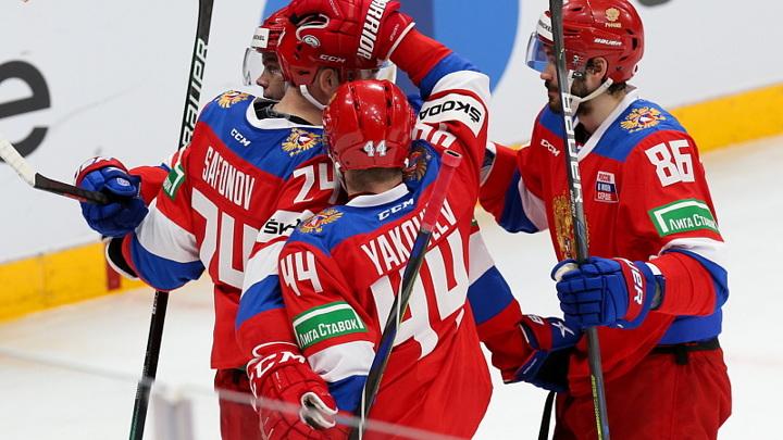 Российские хоккеисты забросили шесть шайб в ворота Белоруссии
