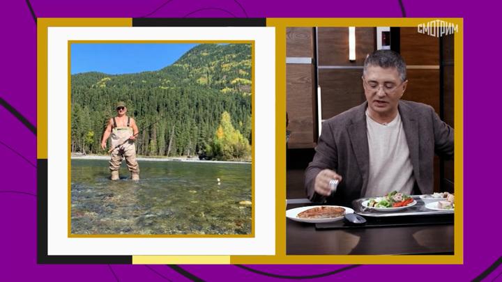 """Кадр из программы """"Доктор Мясников"""". Мясников назвал виды рыб с высоким содержанием ртути"""