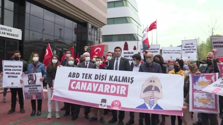 Жители Турции устроили митинг из-за слов Байдена о геноциде армян