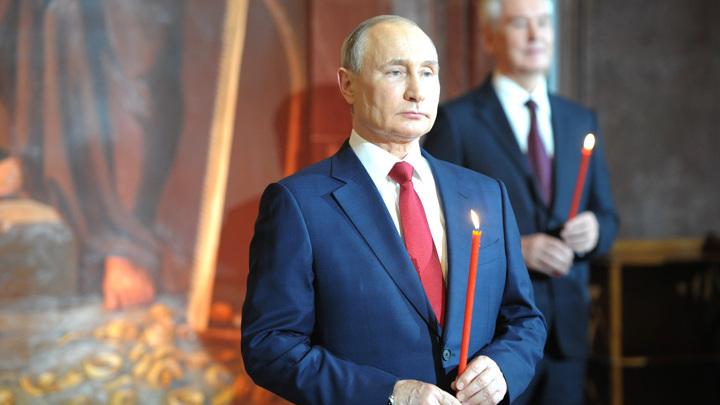 Путин поздравил православных христиан с Пасхой