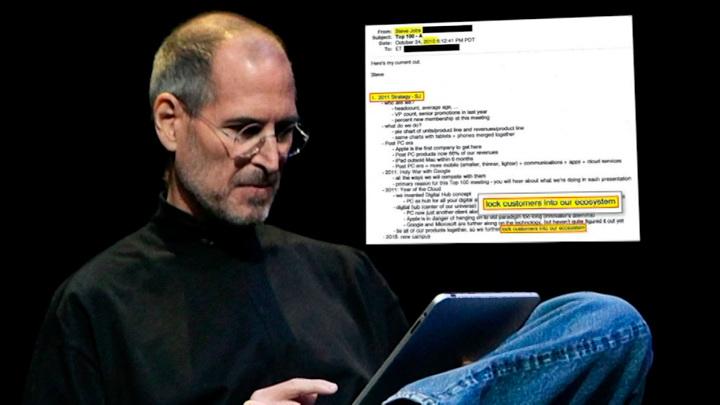 Письма Стива Джобса огласили в суде