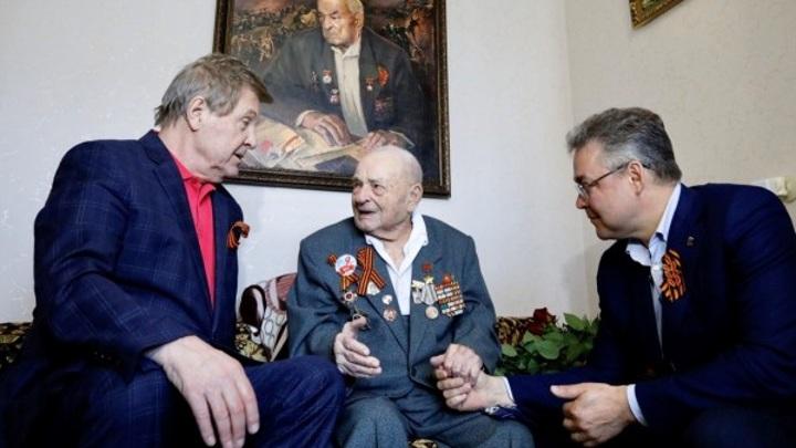 Лев Лещенко и глава Ставрополья поздравили Героя Советского Союза