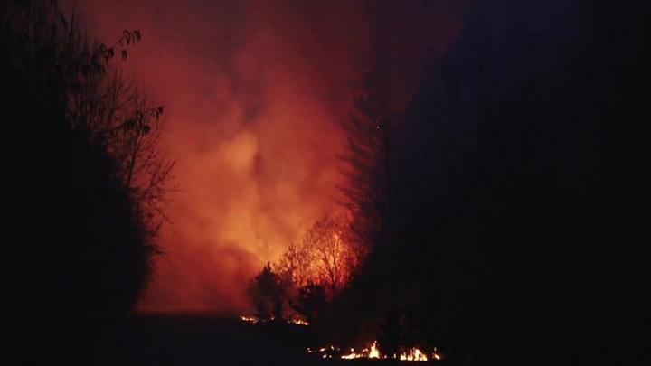 В Татарстане пожар повредил и уничтожил 12 домов в дачном посёлке