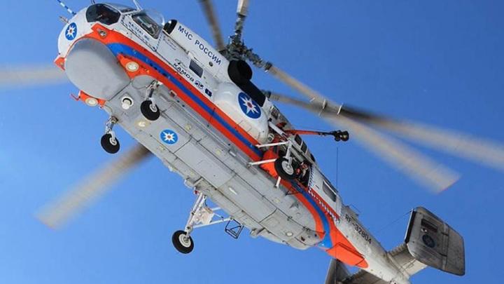 Воздушные поиски пропавшего вертолета прекращены с наступлением темноты