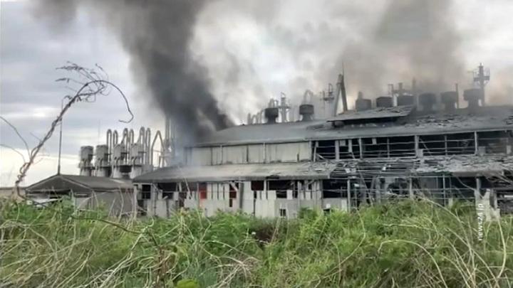 В Японии произошел мощный взрыв на химзаводе