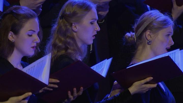 Московский синодальный хор выступил в Храме Христа Спасителя